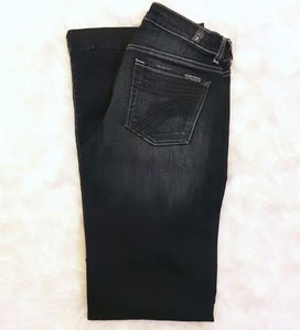 7FAM Size 27 DOJO Trouser Dark Wash Flare Jeans